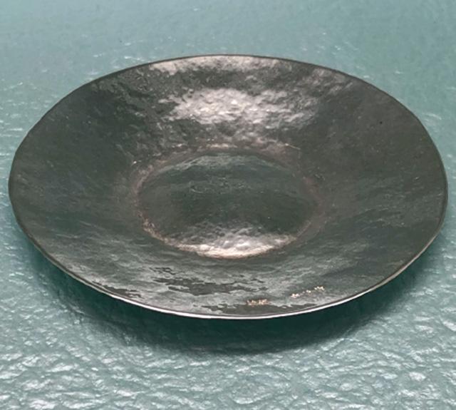 宗伯の純銀製手打丸皿